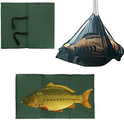 Brand New Carp Pike Tench Unhooking Mat Fishing + Black Weighing Sling NGT