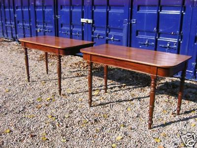 antique regency solid mahogany dining table