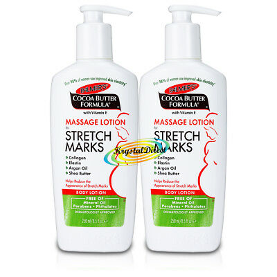 2x Palmers Cocoa Butter Formula Massage Body Lotion For Stretch Marks 250ml