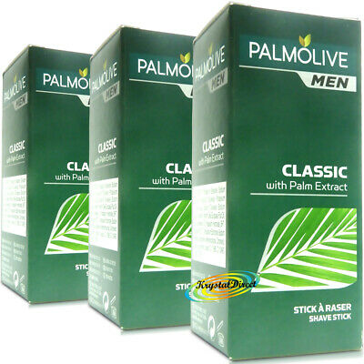 3x Palmolive Classic Shaving Stick Wet Lather Shave