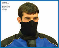 Motorcycle Scooter Neo Neoprene Face Mask - Black/grey
