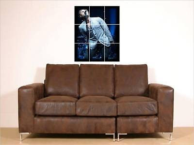 """Liam Gallagher Huge 35""""X25"""" Mosaic Wall Poster Oasis"""