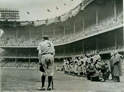 Babe Ruth Baseball Farewell Match 10x8 Photo