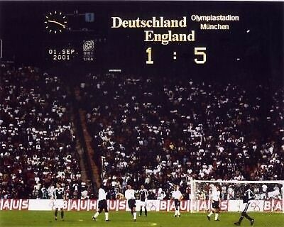 England 5 1 Germany Scoreboard 10x8 Photo