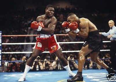 Frank Bruno Mike Tyson STAGGERING Action 10x8 Photo
