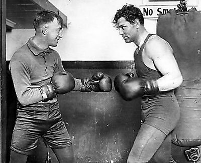 Jack Dempsey Roach Sparring Boxing 10x8 Photo