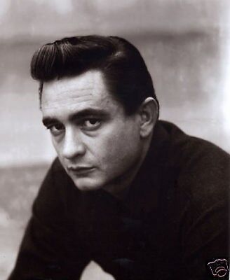 Johnny Cash FANTASTIC Young Profile 10x8 Photo
