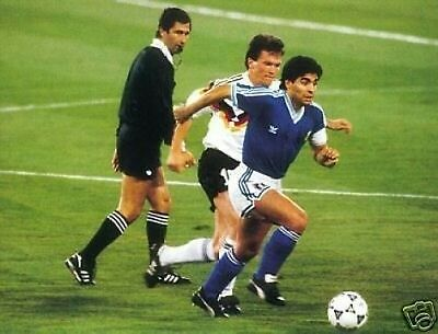 Maradona Lothar Matthaus 1990 Final 10x8 Photo