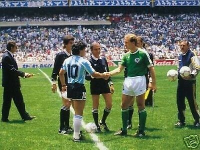 Maradona Rummenigge 1986 World Cup 10x8 Photo