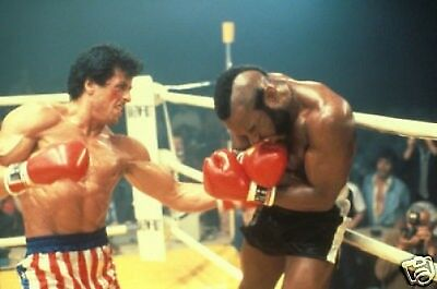 Rocky Balboa with Clubber Lang 10x8 Photo