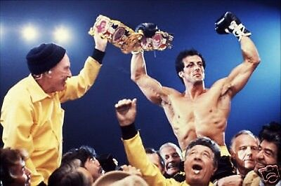 Rocky Sylvester Stallone Wins Title 10x8 Photo