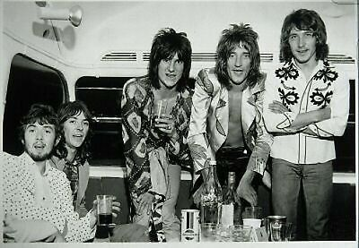 Rod Stewart and The Faces 10x8 Photo