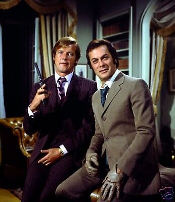 The Persuaders Roger Moore Tony Curtis 10x8 Photo