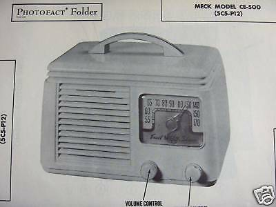 Meck Ce-500 Radio Photofact