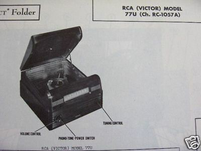 Rca 77U Phonograph Radio Combo Photofact