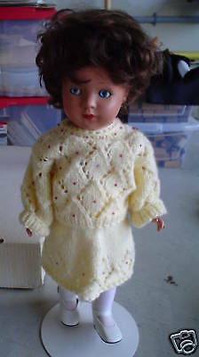RARE 1920s Germany Emaso Maar & Sohn Celluloid Doll 16""