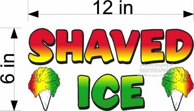 Small Shaved Ice Vinyl Graphic Food Decal Concession