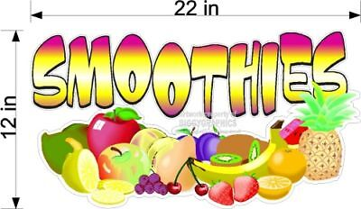 Large Fruit Smoothies Vinyl Decal Concession Graphic