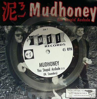 "Mudhoney & Gas Huffer - split 7"" shaped vinyl"