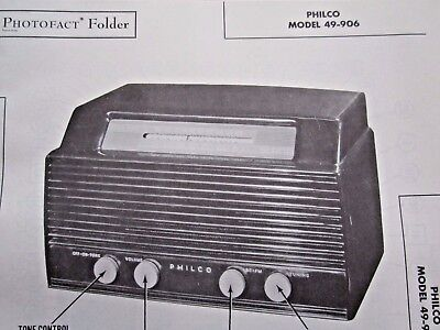 Philco 49-906 Radio Photofact