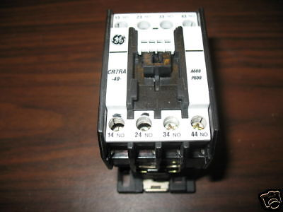 GE CR7RA-40 4 Pole Relay 120V Coil