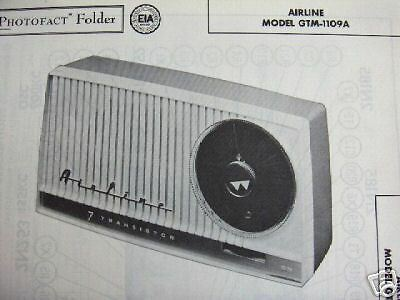AIRLINE GTM-1109A TRANSISTOR RADIO PHOTOFACT