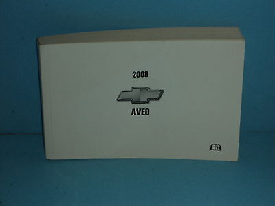 08 2008 Chevrolet Aveo owners manual