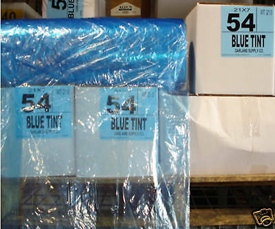 "Dry Cleaning Poly Garment Bags 54"" BLUE- 350 bags/roll"