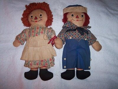 Vintage AUTHENTIC Raggedy Ann & Andy Georgene Novelty Co  Original Owner REAL !!