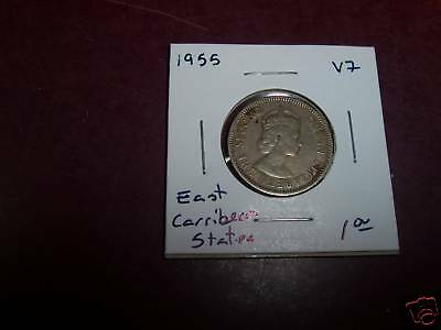 1955 VF East Caribbean States Quarter, 25 cents