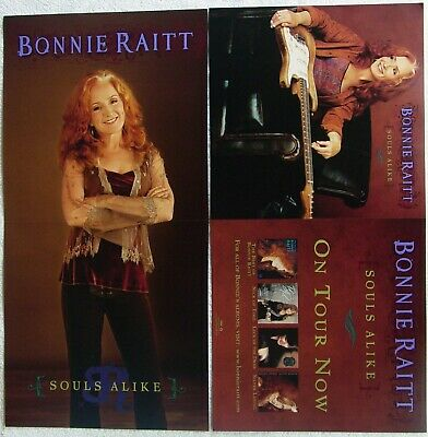 BONNIE RAITT Souls Alike RARE Double Sided PROMO Poster