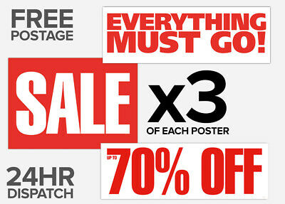 Shop 'closing Down' Poster Pack - Sell All That Stock!