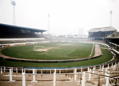 Chelsea 1970's Stamford Bridge Ground COLOUR 10x8 Photo