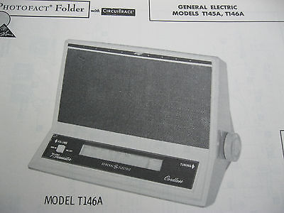 GENERAL ELECTRIC T145A,T146A TRANSISTOR RADIO PHOTOFACT