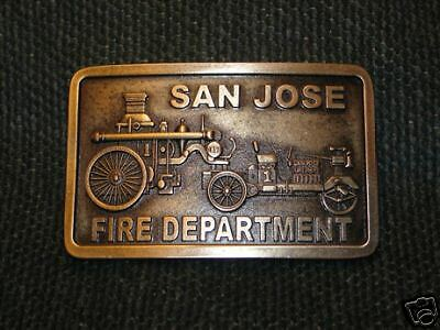 1914 Knox Martin Belt Buckle San Jose Fire Department