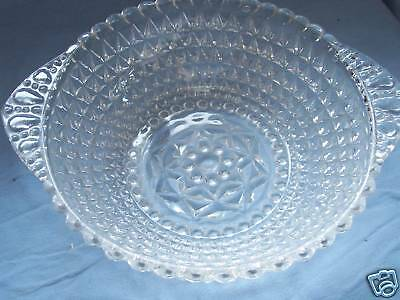 Vtg., Indiana Glass,  Clear, Diamond Point, Indiana Glass,  Serving Bowl