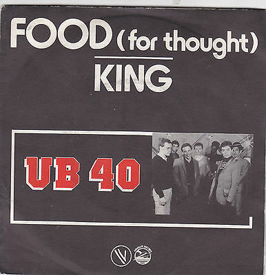 """UB40-food for thought/king 45"""""""