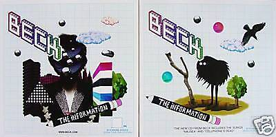 BECK The Information RARE 2Side PROMO Poster NEW Hansen