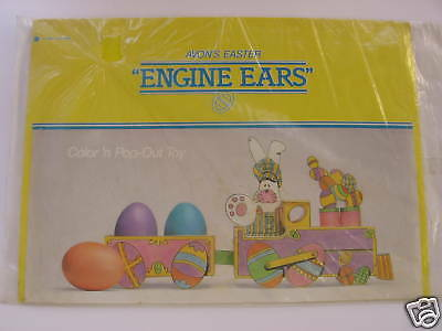Vintage Avon Easter Pop Out Train Toy Engine Ears MIP