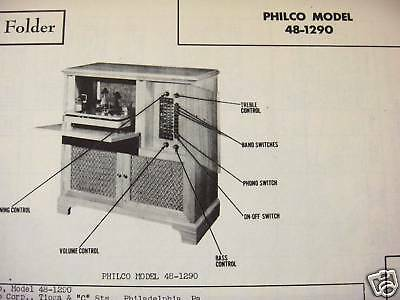 Philco 48-1290 Phonograph - Radio Photofact