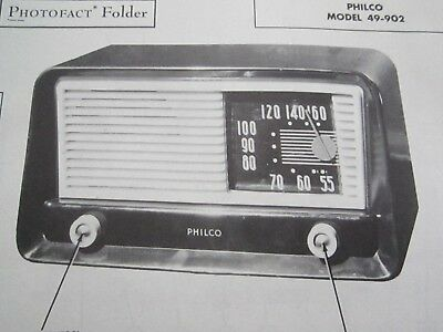 Philco 49-902 Radio Photofact