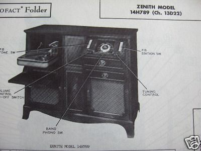 Zenith 14H789 Radio Photofact