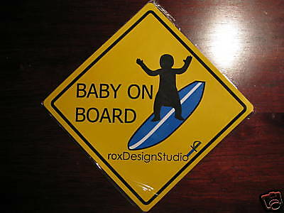Car Magnet - Baby on Surf Board magnet