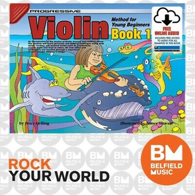 Progressive 69144 VIOLIN Method for Young Beginners Book 1 Free CD - KPYV1CP