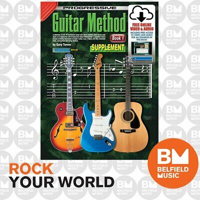 Progressive 69133 GUITAR Method Supplement Learning Book Free DVD/CD KPGMSUPCP
