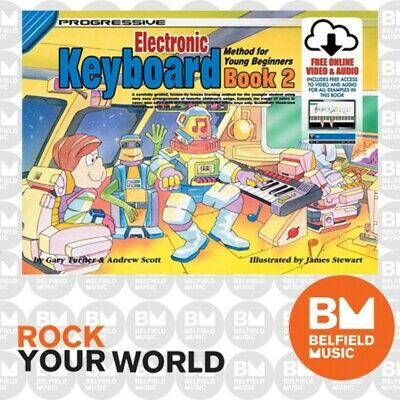 Progressive 18342 KEYBOARD for Young Beginners Learning Book 2 Free CD KPYE2CP