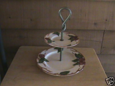 Franciscan Apple Pattern 2-tiered Serving Tray   MINT