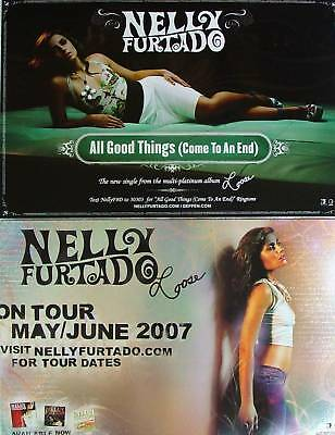 NELLY FURTADO All Good Things TOUR 2 Sided PROMO Poster