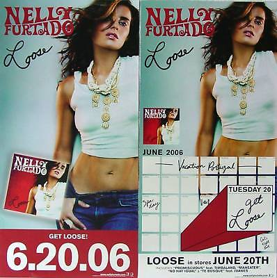 NELLY FURTADO Loose RARE 2Side PROMO Poster PROMISCUOUS