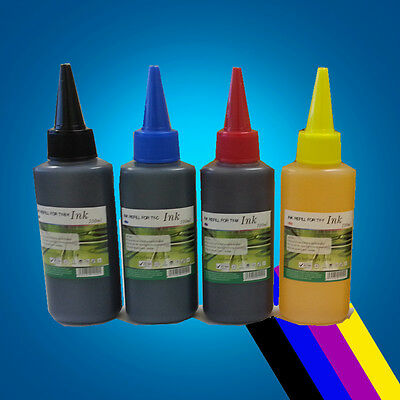 400ml Ink refill for HP Printer Cartridge CISS 4 Colour